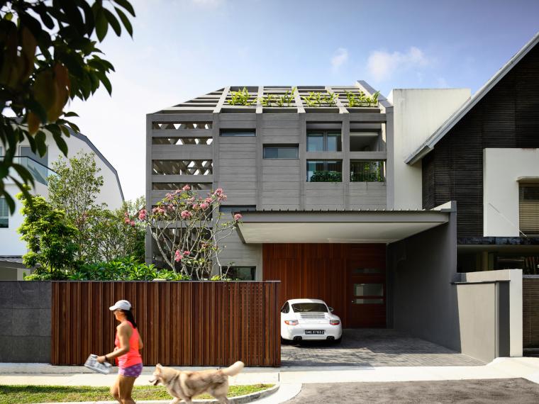 新加坡混凝土灯塔的住宅