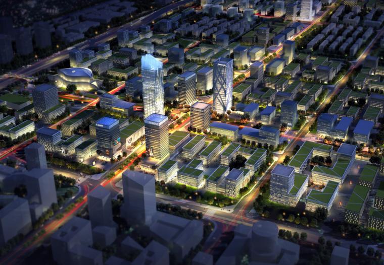 [北京]文创服务综合可持续产业园建筑方案图