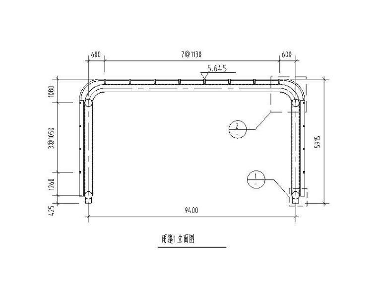 钢雨篷结构施工图