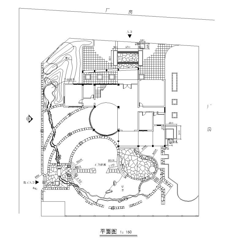 别墅景观设计CAD施工图