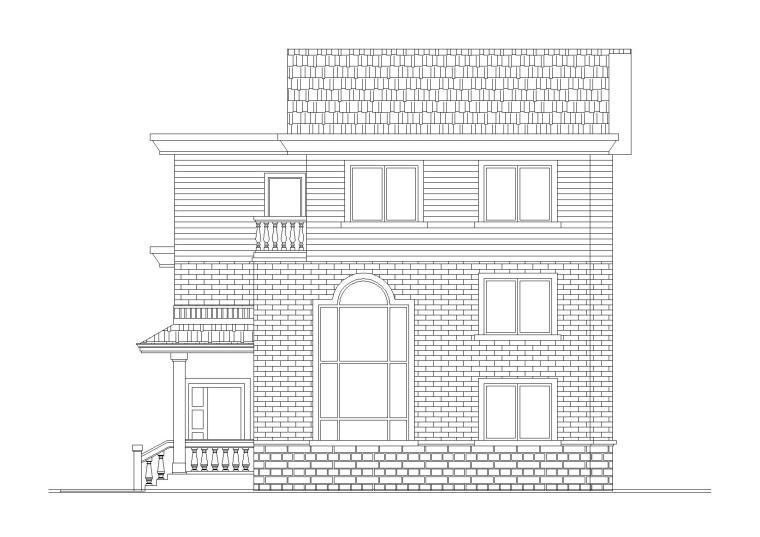 三层新农村住宅小别墅建筑施工图