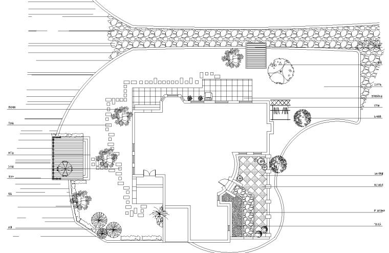 波西米亚岛景观别墅设计CAD施工图