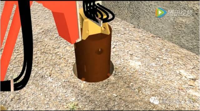 支护桩和止水帷幕施工演示