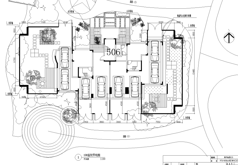 [江苏]南京天弘山庄庭院景观设计cad施工图