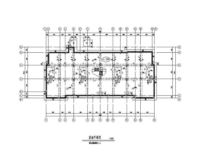 钢混异形柱框架结构别墅建筑结构施工图