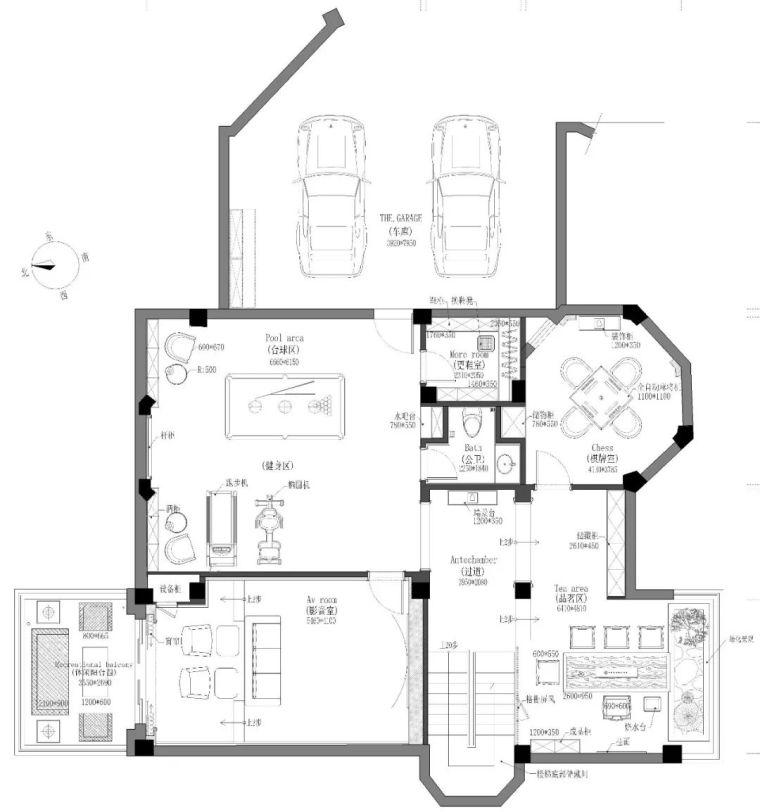496m²现代美式别墅设计,打造富有质感充满_20