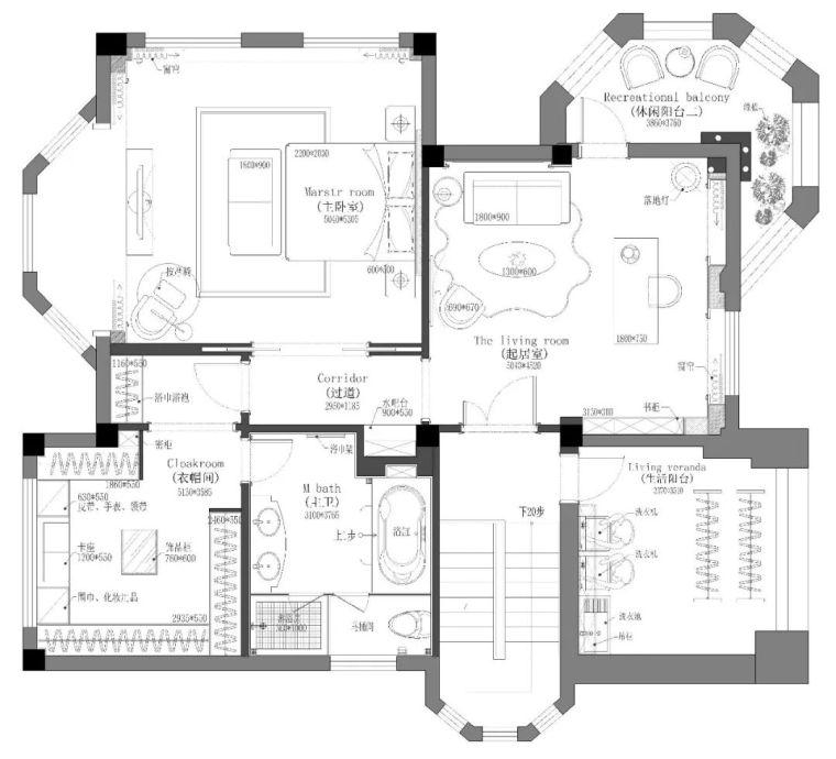 496m²现代美式别墅设计,打造富有质感充满_23