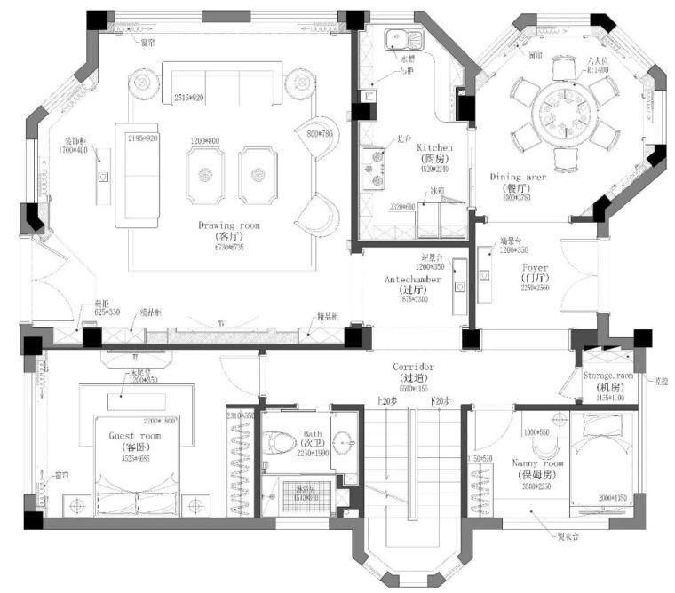 496m²现代美式别墅设计,打造富有质感充满_21