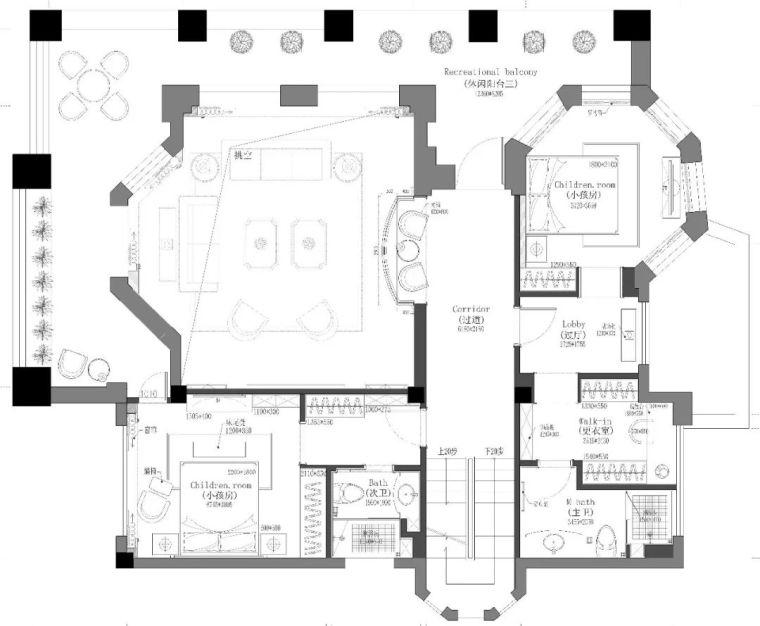 496m²现代美式别墅设计,打造富有质感充满_22