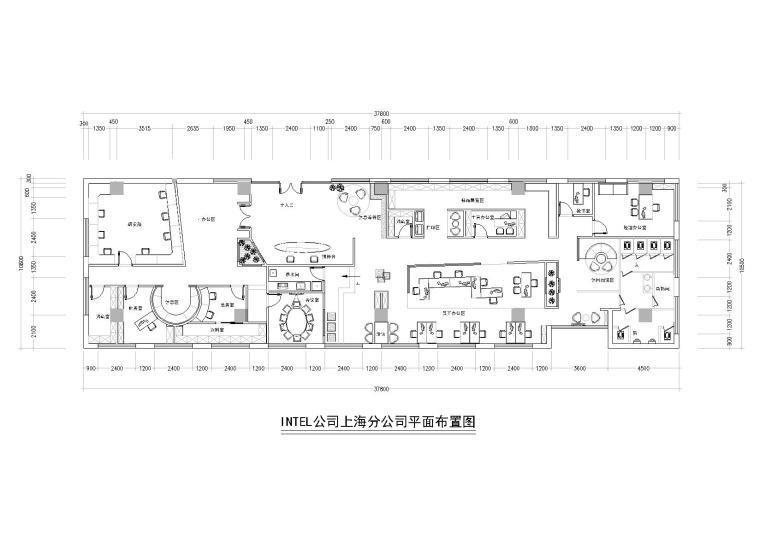[上海]INTEL公司办公施工图+3D模型+效果图
