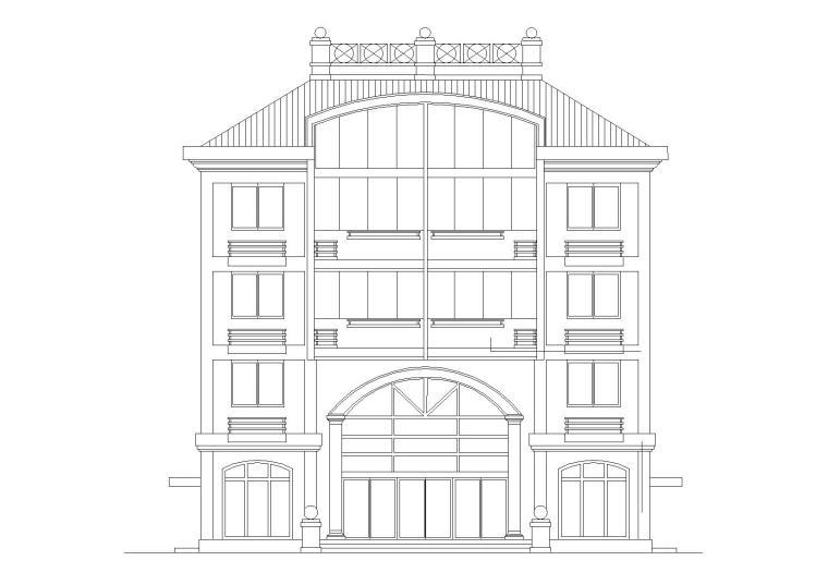 多层并联高级别墅寓所建筑施工图