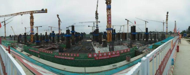 铁路雄安站站房钢结构工程地下主体结构完工