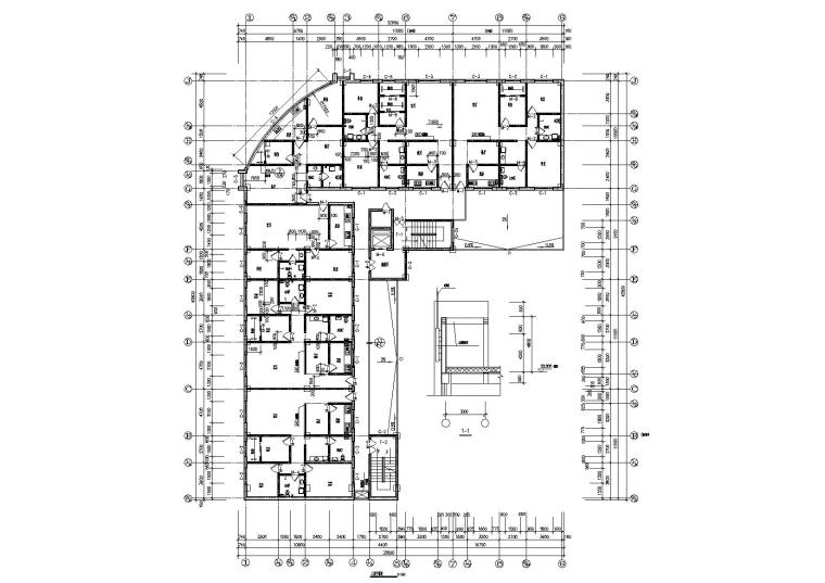 05L型多層住宅樓建筑三層平面圖
