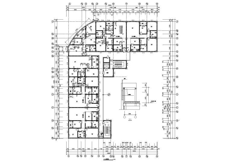 06L型多層住宅樓建筑四至九層平面圖