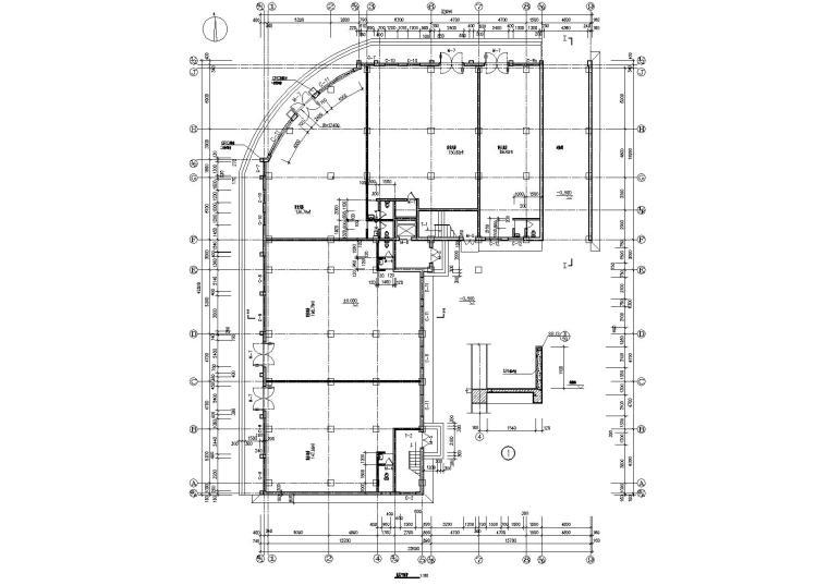 03L型多層住宅樓建筑底層平面圖