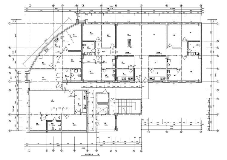 09L型多層住宅樓建筑戶型平面圖