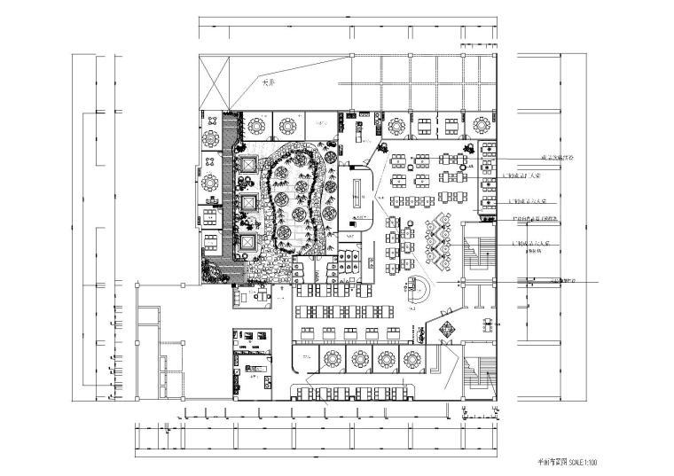 铜锅火锅店装饰设计施工图+3D模型+效果图