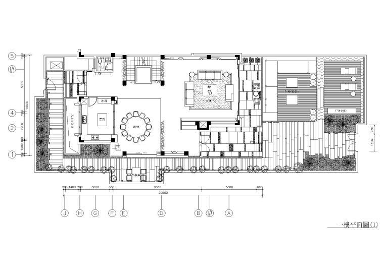 海宁新中式样板间施工图+彩屏+效果图+物料