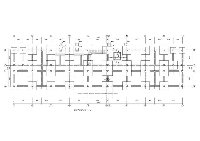 四层框架结构服务中心拆迁改造施工图