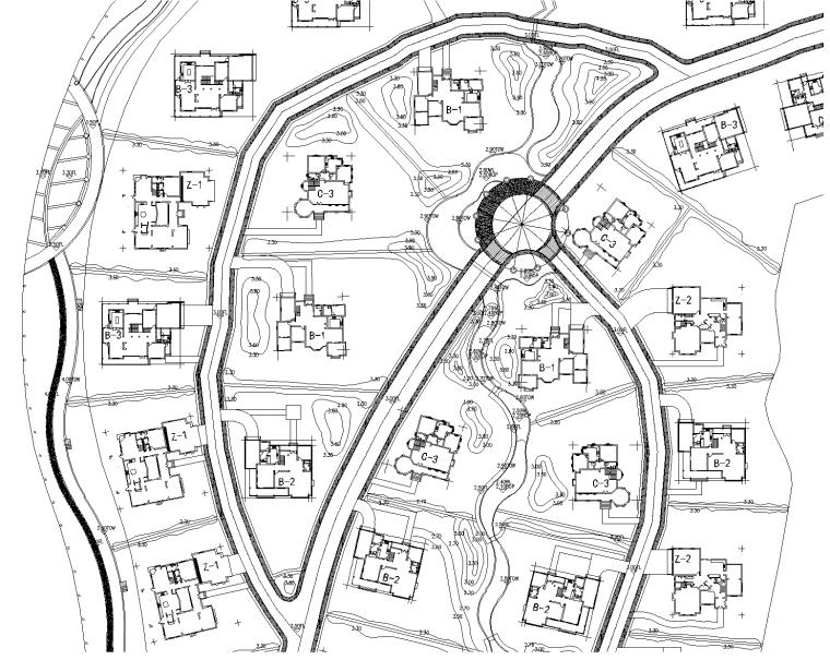 [江苏]金澄明珠别墅区景观设计CAD施工图
