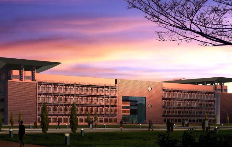 [上海]东华大学新校区图书馆建筑方案图
