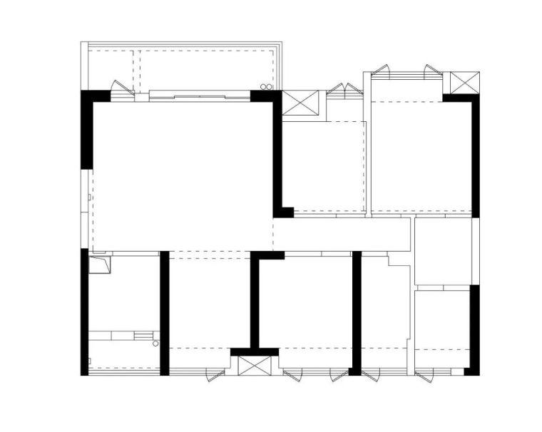120㎡法式轻复古别墅装修,客厅的落地窗超