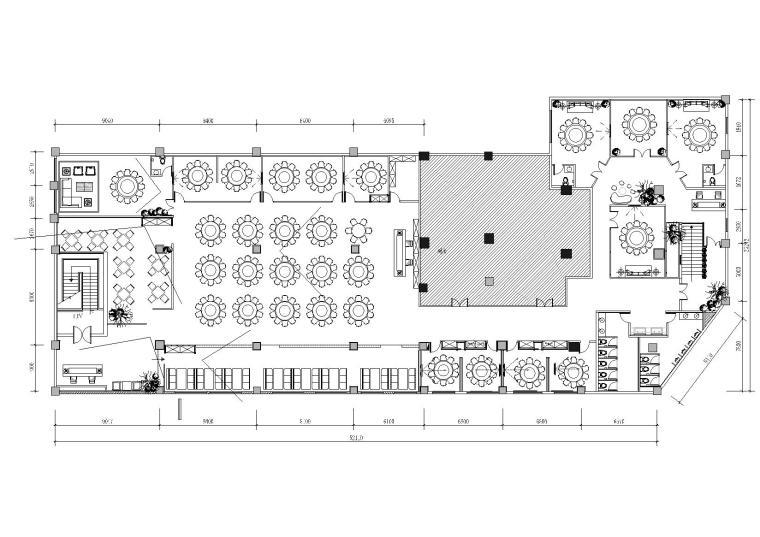 建筑设计院-某新中式餐厅CAD+3D模型+效果图