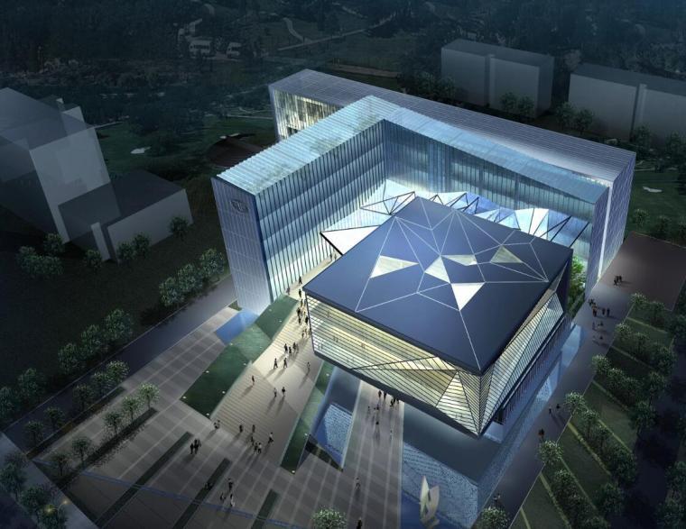 [上海]奉贤绿色科技图书馆建筑方案图