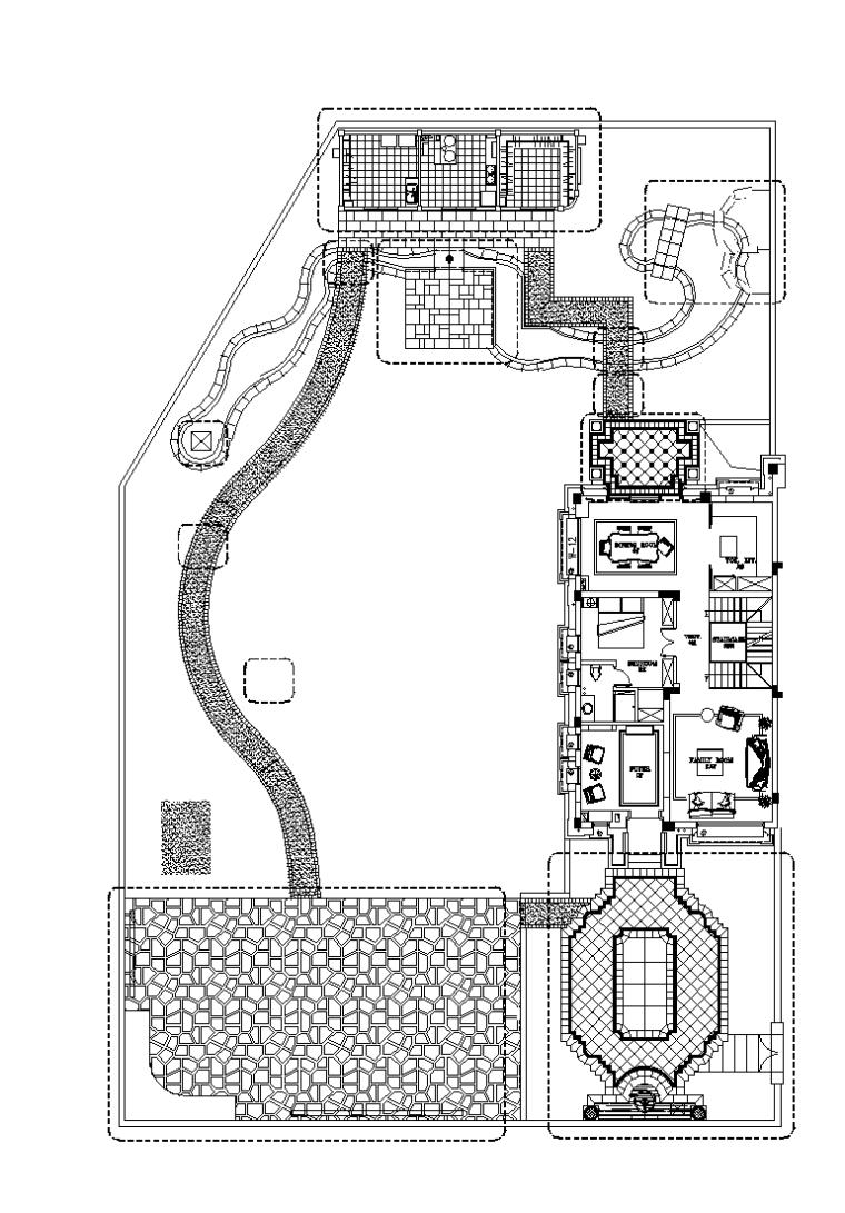 别墅庭院花园景观全套CAD施工图