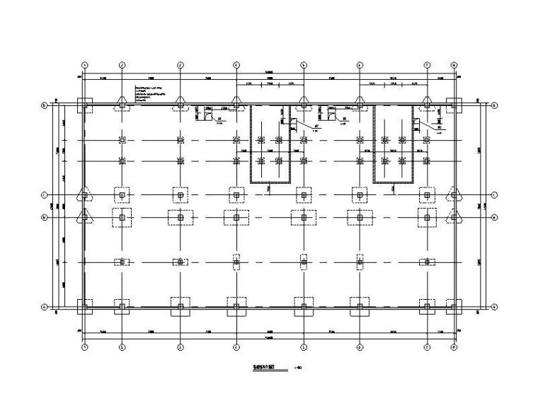 中国博览会110kv电站结构施工图(框架结构)