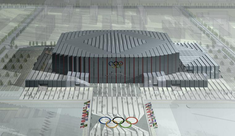 [北京]北京科技大学体育馆建筑方案图
