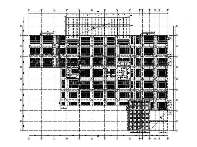 8层钢混框架结构大学图书馆建筑结构施工图