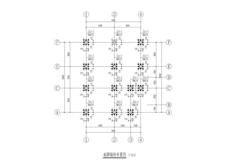 2栋二层轻钢框架结构别墅结构施工图纸