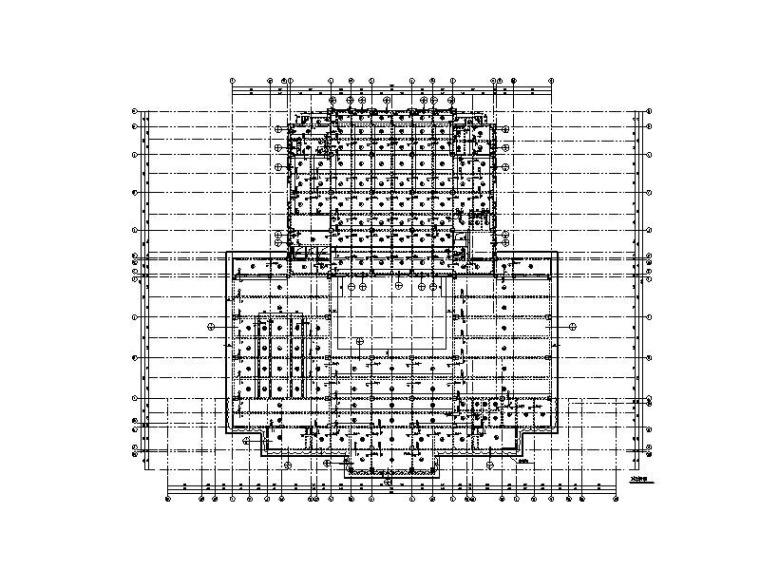 9层钢混框剪结构图书馆结构施工图