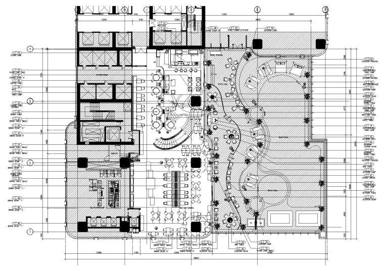[越南]时代广场酒店全日制餐厅全套施工图