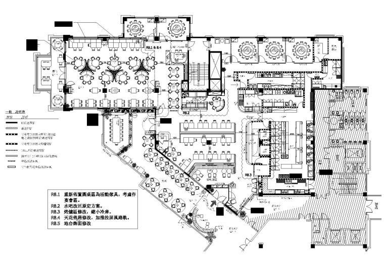 [上海]花悦庭主题艺术餐厅图纸+效果图