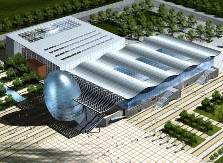 [山东]青岛会展中心扩建设计方案图