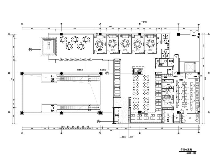 [福州]品川-福建诺米丁餐厅施工图+效果图