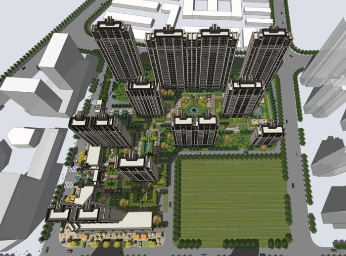 [山东]青岛市城阳项目建筑规划方案设计文本