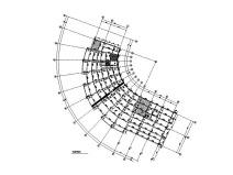 弧形框架-少墙学生服务中心结构施工图2018