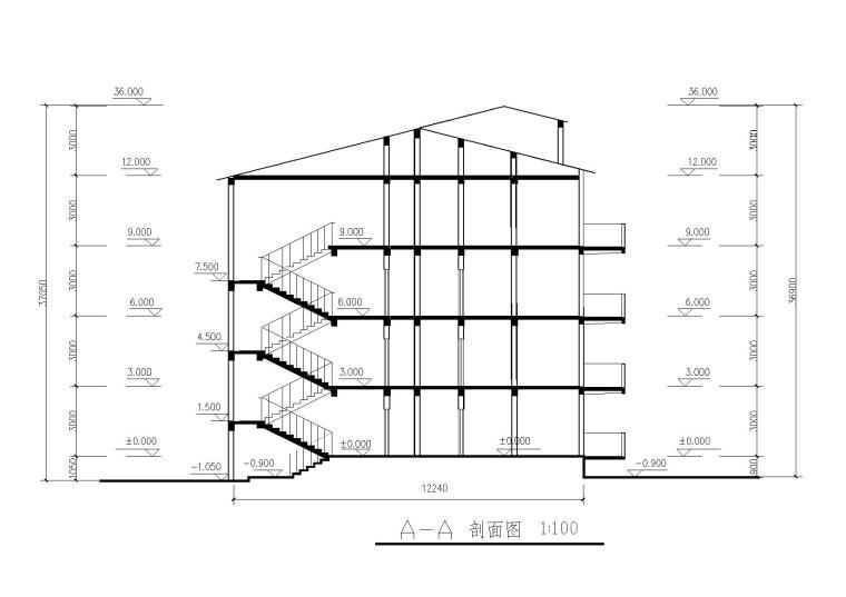 6层框架结构建筑结构加固施工图纸