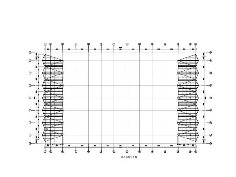 罩棚结构平面图
