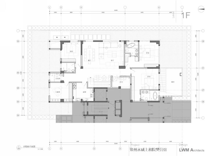 李玮珉设计案例资料下载-李玮珉-郑州某住宅项目效果图+方案+施工图