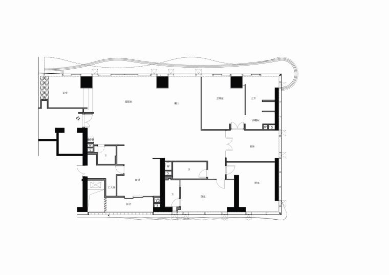 梁志天恒禾七尚3居室样板房效果图+设计方案