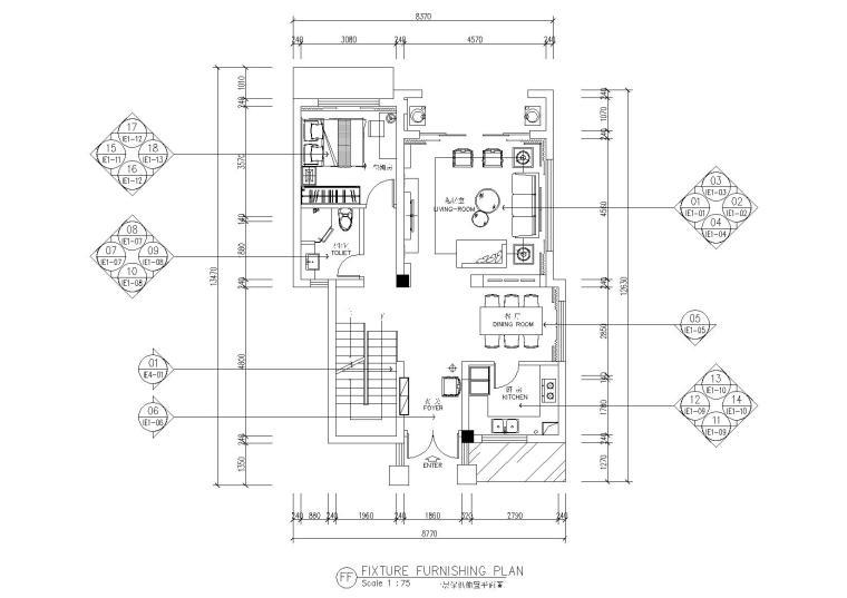 泸州凤凰首府别墅深化方案+效果图+施工图