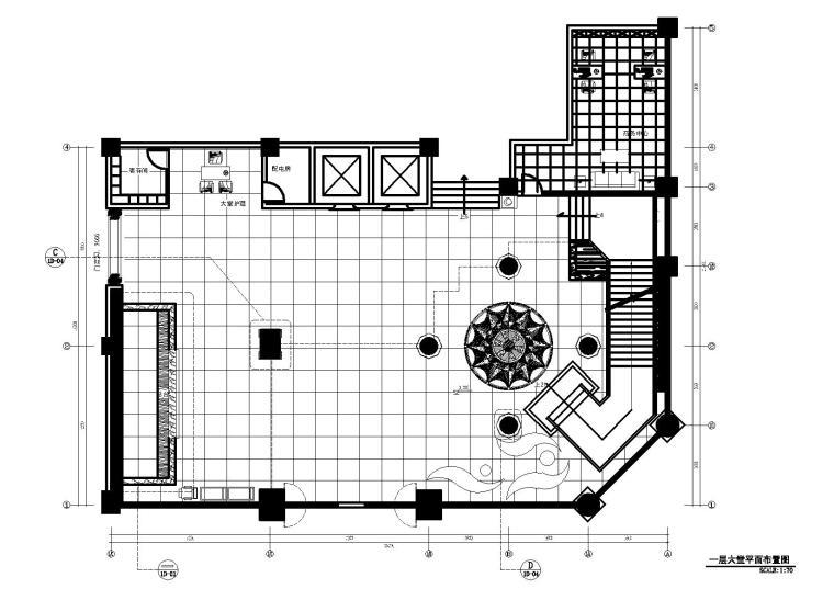 [福州]福清卓越酒店装饰CAD施工图+效果图