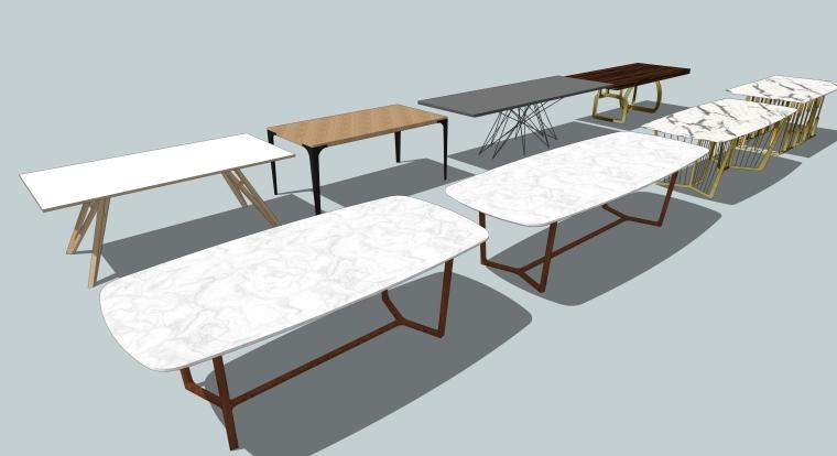 室内家具SU模型-餐桌(34套)