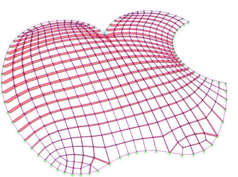 网壳结构找形分析浅谈及案例_39