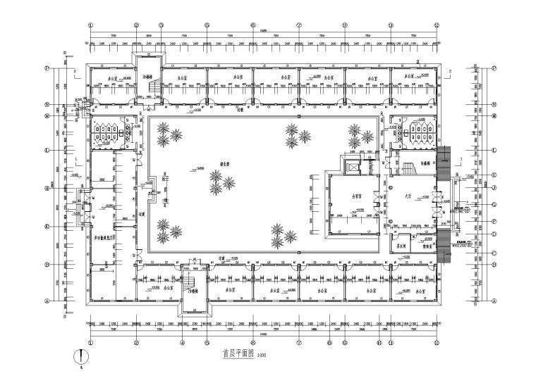 六层框架结构办公楼图纸