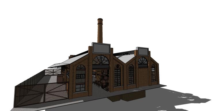 工业厂房su模型